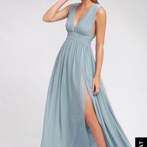 Heavenly Hues Light Blue Maxi Dress(NWT)